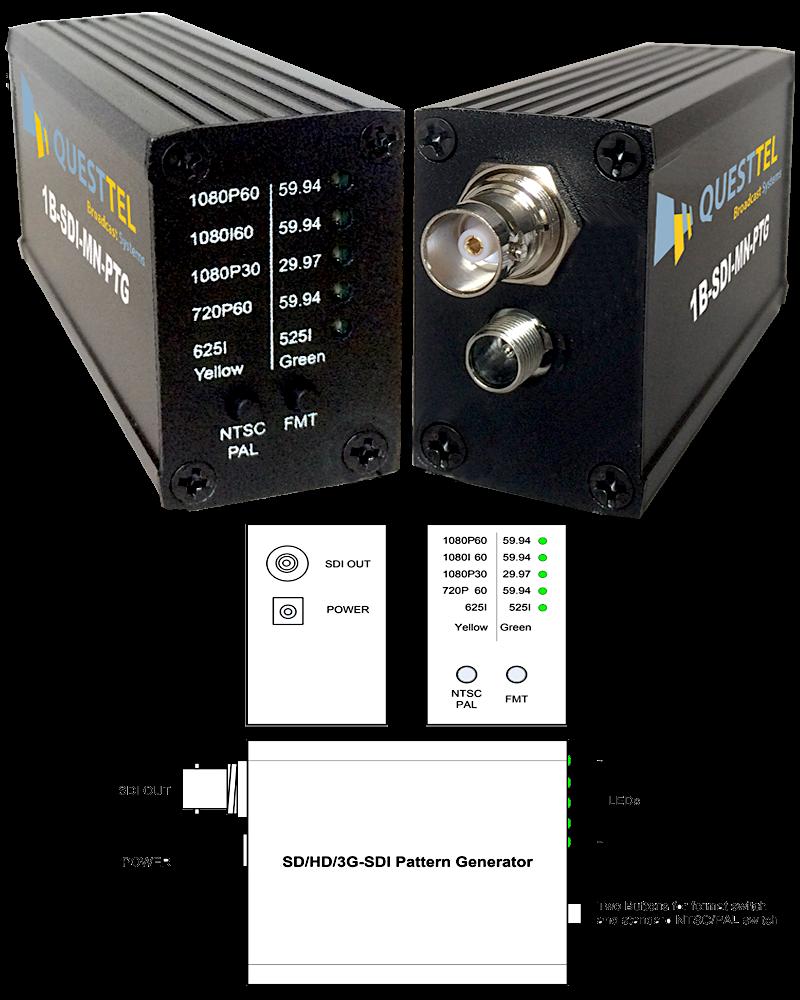 3G/HD/SD-SDI Mini Pattern Generator 's Application Drawing