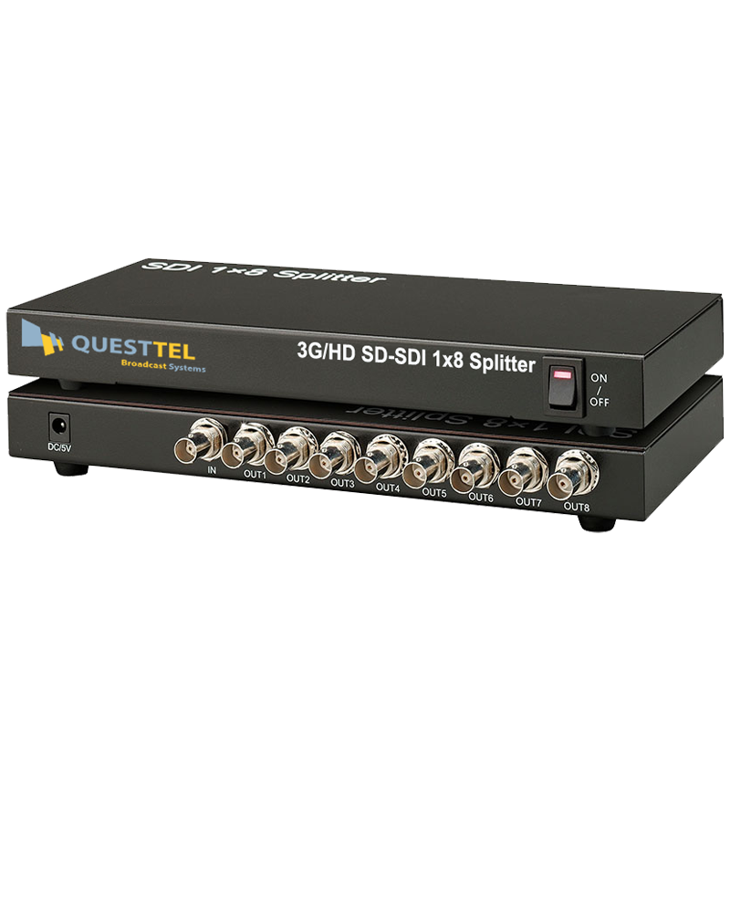 3G/HD-SDI 1x8 Splitter Amplifier's Application Drawing