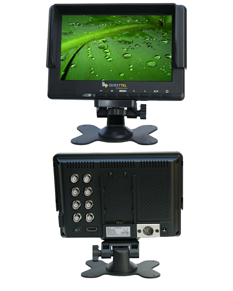 "7"" 3G-SDI Monitor - 7 16:9 LED with 3G-SDI, HDMI, YPbPr, CVBS's Application Drawing"