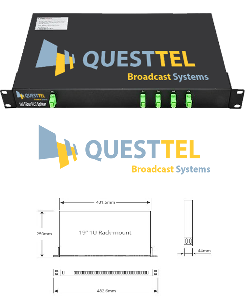 1x4 Fiber PLC Splitter with 1U 19 Rack Mount's Application Drawing