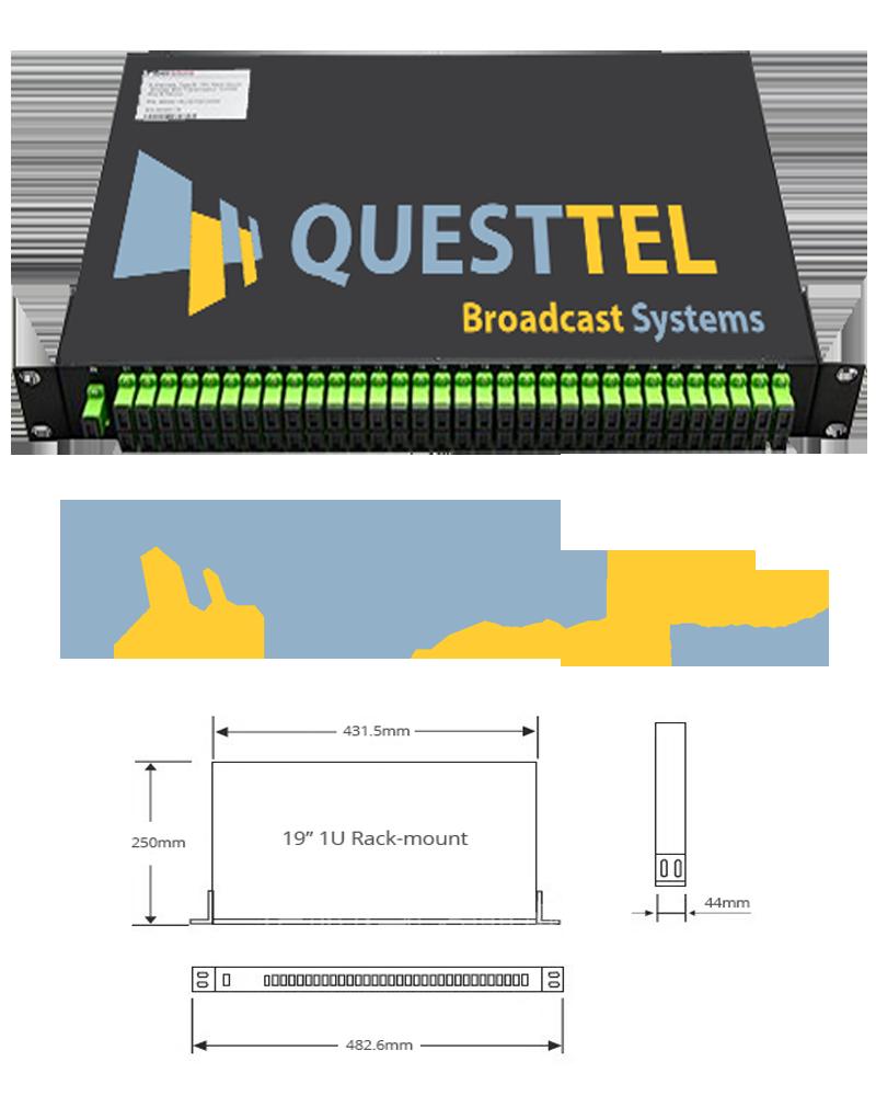 1x64 Fiber PLC Splitter with 1U 19 Rack Mount's Application Drawing