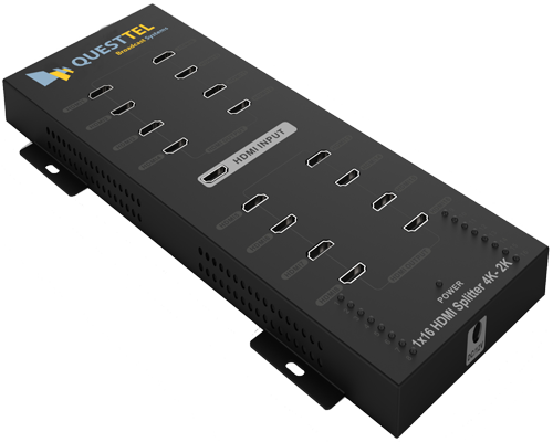 1x16 HDMI Splitter with 4K/2K and 3D