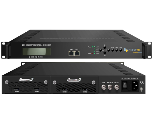 2 Ch HDMI to ASI+IP MPEG-2 H.264 Encoder