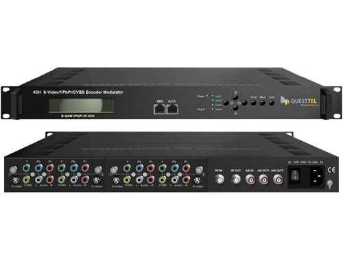 4 Ch CVBS/YPbPr/S-Video SD Encoder-Modulator