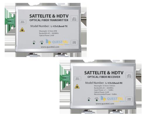 L-Band Over Fiber Link Transmitter and Receiver