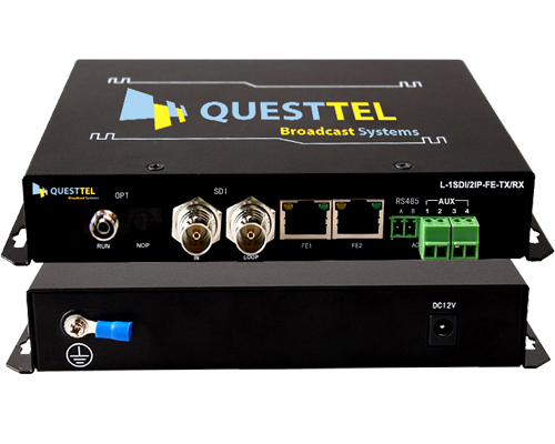 1 Channel HD-SDI and IP Over Fiber Extender Kit with RS485 Data