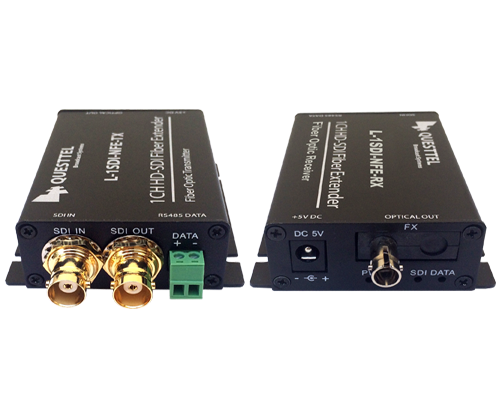 1 Channel HD/SD-SDI Over Fiber Extender Kit with RS485 Channel and Loop Out