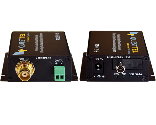 1 Channel HD/SD-SDI Over Fiber Extender Kit with RS485 channel