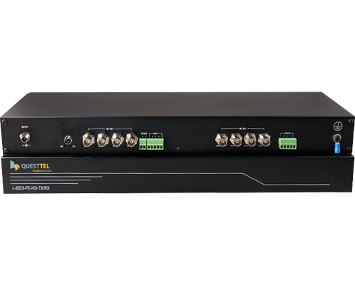 8 Channel HD-SDI Over Fiber Extender Kit with RS485 channel