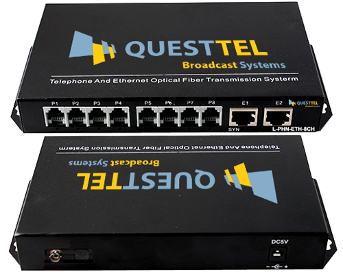8 Channel Telephone Fiber Multiplexer